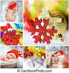 聖誕節, 相片, 由于, a, 新生的嬰孩