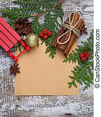 聖誕節, 背景, 由于, 模仿空間, 作品