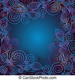 聖誕節, 藍色, 框架