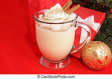 聖誕節, 蛋諾酒, &, copyspace