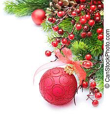聖誕節, 邊框, 在上方, 白色