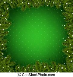 聖誕節, 邊框, 由于, 新年, 樹