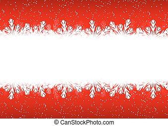 聖誕節, 雪花, 邊框