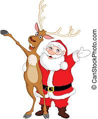 聖誕老人, 以及, rudolph