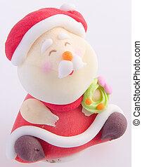 聖誕老人, 小雕像, 在背景上