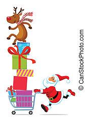 聖誕老人, 由于, 購物車