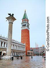 聖· marco 廣場, 在, 威尼斯, italy