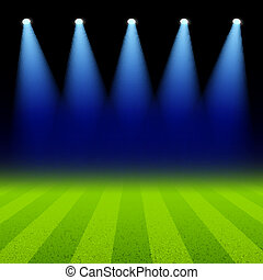 聚光灯, 阐明, 绿色的领域