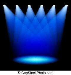 聚光燈, 階段