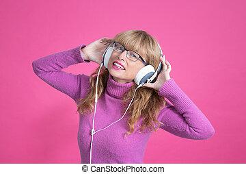 聞くこと, 背景, ヘッドホン, ダンス, ∥あるいは∥, 女, 色, 音楽