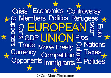 聯合, 詞, 雲, 歐洲