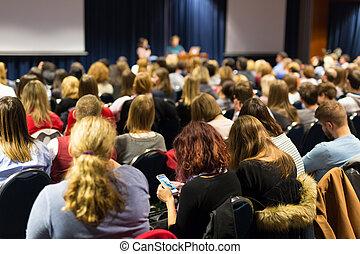 聴衆, 中に, 講堂, 参加, ∥において∥, ビジネス, conference.