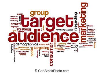 聴衆, 単語, ターゲット, 雲
