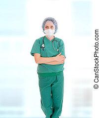 聴診器を持っている医者