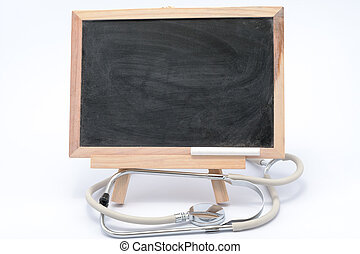 聴診器, そして, 黒板
