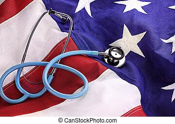 聴診器, アメリカの旗