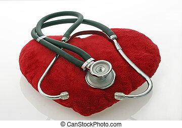 聴診器, ビロード, 赤い心臓