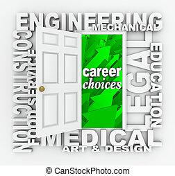 職業, 単語, ドア, 仕事, 選択, 機会