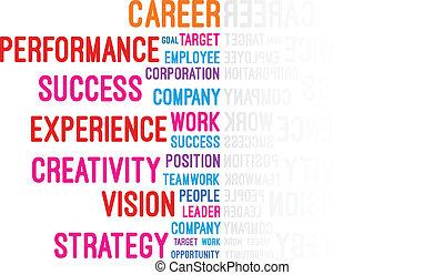 職業, 概念, 詞, 雲