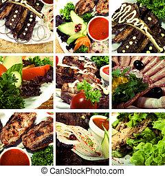 肉, 彙整, 盤