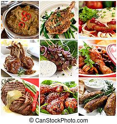 肉, 彙整, 飯