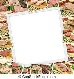 肉, 相片, 空間, 彙整, 未加工, 模仿