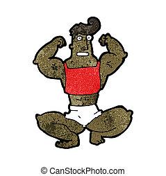 肌肉, 卡通漫画, 人
