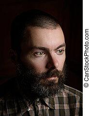 肖像画, あごひげを生やした男