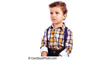 肖像画, の, ∥, 愛らしい, 小さい 男の子
