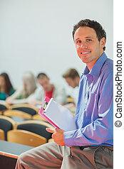 肖像画, の, 教師, ∥で∥, 生徒, 中に, 教室