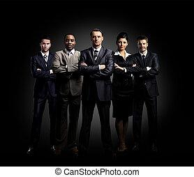 肖像画, の, 5, businesspeople