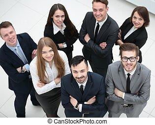 肖像画, の, a, 専門家, ビジネス チーム