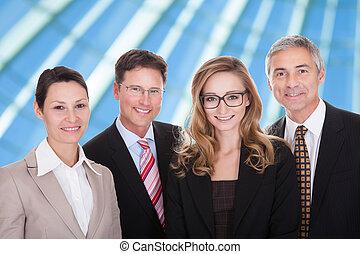 肖像画, の, businesspeople