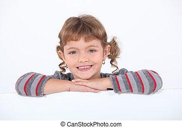 肖像画, わずかしか, 微笑の女の子