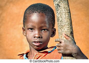 肖像画, アフリカ, 子供
