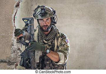 肖像画, アメリカ人, 兵士