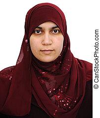 肖像画, アラビア,  muslim, 女
