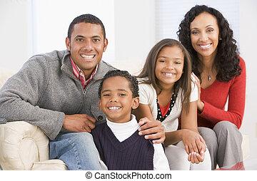 肖像画, クリスマス, 家族