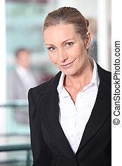 肖像画, クローズアップ, ブロンド, 女性実業家