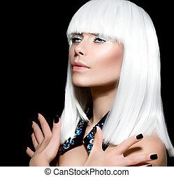 肖像画, スタイル, ファッションモデル, 流行