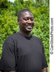 肖像画, ハンサム, アフリカの男