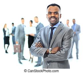 肖像画, ビジネスマン, アメリカ人, アフリカ