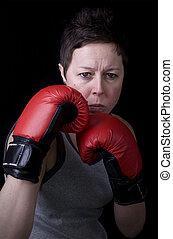 肖像画, ボクサー, 女性