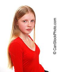 肖像画, モデル, 若い