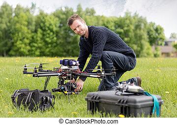 肖像画, 写真撮影, 航空写真, uav