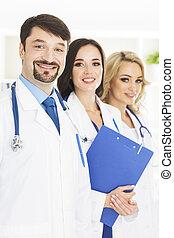 肖像画, 医学の オフィス, 医者