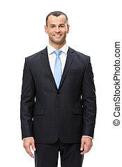 肖像画, 半分長さ, smiley, ビジネスマン
