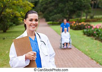 肖像画, 味方, 女性の医者