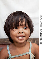 肖像画, 女の子, アジア人