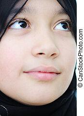肖像画, 女の子, muslim